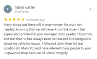 Customer Google Review